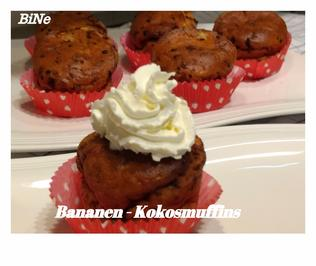 Rezept: BiNe` S BANANEN - KOKOSMUFFINS