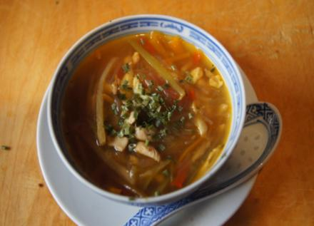 Asiatische Hähnchenbrustfiletsuppe mit Gemüse - Rezept - Bild Nr. 3512