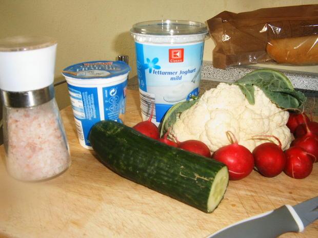 Blumenkohl-Radieschen-Salat - Rezept - Bild Nr. 3514