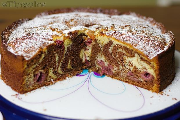 Zebra Kirsch Schoko Kuchen Rezept Mit Bild Kochbar De