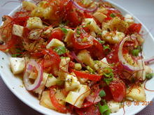 Tomaten-Ananas-Salat mit Scamorza - Rezept - Bild Nr. 2