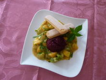 Kirschen Sorbet auf Kompott - Rezept - Bild Nr. 3528