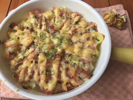 Kartoffel-Kohlrabi Auflauf mit Schinken - Rezept - Bild Nr. 3577