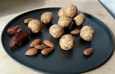 Mango Mandel Kugeln - Mango Almond Balls - Rezept - Bild Nr. 3579