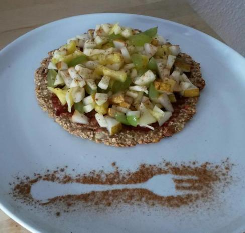 Haferflockenpizza - Porridge Pizza - Rezept - Bild Nr. 3580