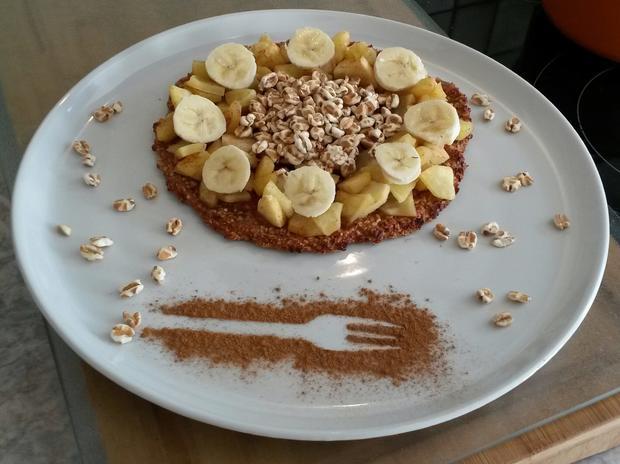 Haferflockenpizza - Porridge Pizza - Rezept - Bild Nr. 3581