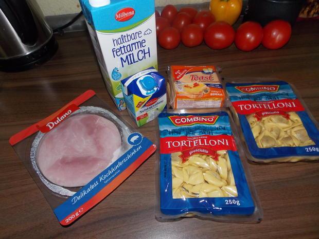 Tortelloniauflauf mit Käse-Sahne Soße - Rezept - Bild Nr. 3579