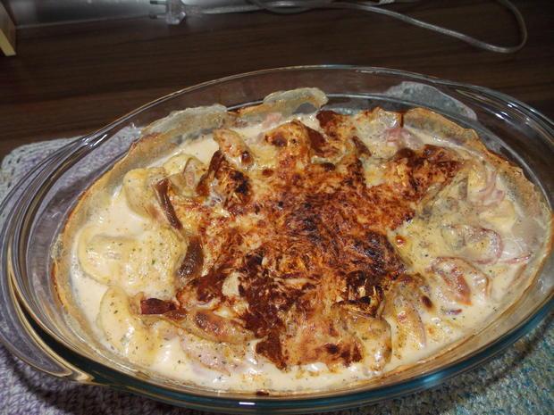 Tortelloniauflauf mit Käse-Sahne Soße - Rezept - Bild Nr. 3583