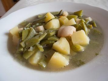 Suppenküche:  Bibbelchesbohnesupp (Löffelbohnensuppe) - Rezept - Bild Nr. 3639