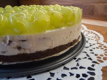 Kuchen: Stracciatella-Cheese-Cake mit Trauben - Rezept - Bild Nr. 2