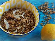 Frühstück: Zitronen-Kokos-Sonnenblumenkern-Granola - Rezept - Bild Nr. 4539