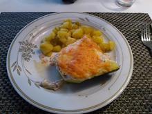 Gefüllte Zuccini mit Bratkartoffeln - Rezept - Bild Nr. 3625