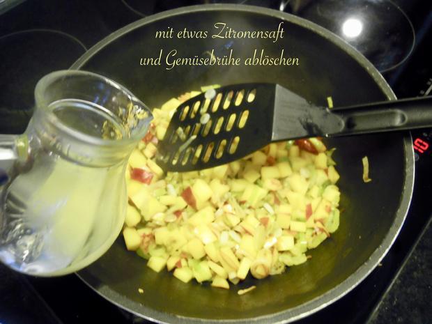 Lachsforellenfilet mit Pasta in Pfirsich - Salsa - Sauce - Rezept - Bild Nr. 3648