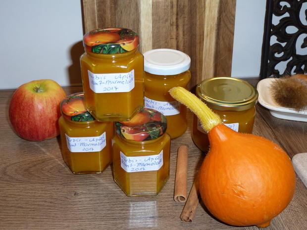 Kürbis-Apfel-Marmelade - Rezept - Bild Nr. 3649