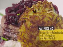 Rinderfilet in Rotweinsoße mit Selleriepüree - Rezept - Bild Nr. 2
