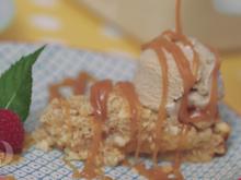 Aprikosen-Macadamia-Tarte mit Tonkabohneneis - Rezept - Bild Nr. 2