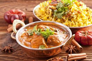Hähnchencurry mit Reis und Chapati - Rezept - Bild Nr. 2