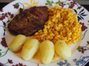 Paprika-Steak mit Mais und Drillingen - Rezept - Bild Nr. 2