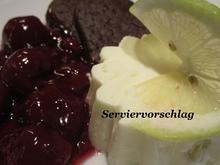 Dessert: Zitronen-Pannacotta auf Kirschgrütze mit Schokoladenkeks - Rezept - Bild Nr. 3671