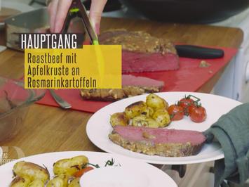Roastbeef mit Apfelkruste an Rosmarinkartoffeln und selbstgemachter Remoulade - Rezept - Bild Nr. 2