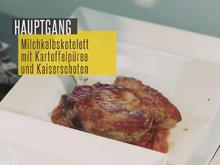 Milchkalbskotelette auf Steinpilzen mit Tomatensoße an Kartoffel-Sellerie-Püree - Rezept - Bild Nr. 2