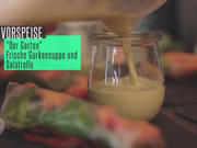 Kalte Gurkensuppe und Salatrollen - Rezept - Bild Nr. 2