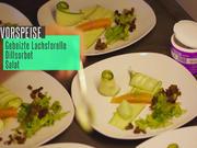 Gebeizte Lachsforelle mit Dillsorbet an Salat - Rezept - Bild Nr. 2