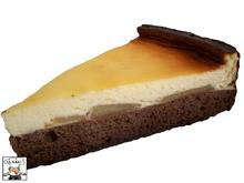 Kuchen -  Mascarponekuchen mit Apfelfüllung und Mandelkakaozimtboden - Rezept - Bild Nr. 3697