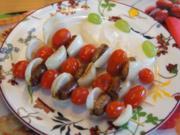 Würstchen-Gemüse-Spieße mit Jogurt-Meerrettich-Honig-Sauce - Rezept - Bild Nr. 2