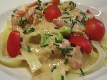 Pasta: Tagliatelle mit Krebsschwänzen in Sherrysoße - Rezept - Bild Nr. 3697