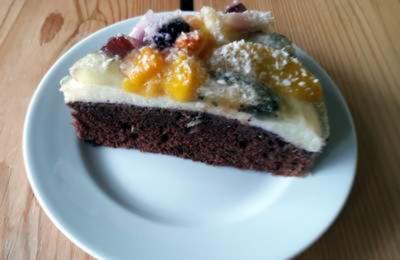Rezept: Exotischer-Schoko.Grießkuchen