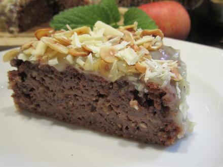Backen: Apfel-Schoko-Kuchen mit Karamell-Ganache - Rezept - Bild Nr. 3698