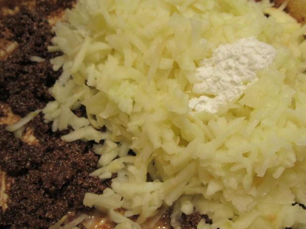 Backen: Apfel-Schoko-Kuchen mit Karamell-Ganache - Rezept - Bild Nr. 3702