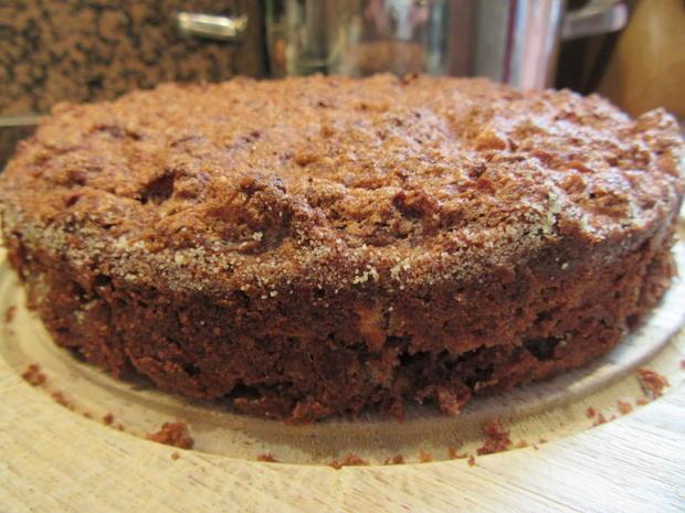 Backen: Apfel-Schoko-Kuchen mit Karamell-Ganache - Rezept - Bild Nr. 3705