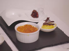 Crème brûlée, Mango-Praline und Mangosorbet - Rezept - Bild Nr. 2