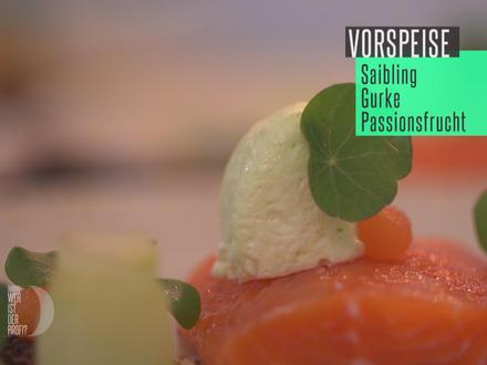 Gebeizter Saibling mit Gurke und Passionsfrucht - Rezept - Bild Nr. 2