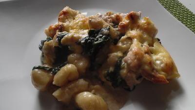 Gnocchi-Auflauf mit Pute und Spinat - Rezept - Bild Nr. 3698