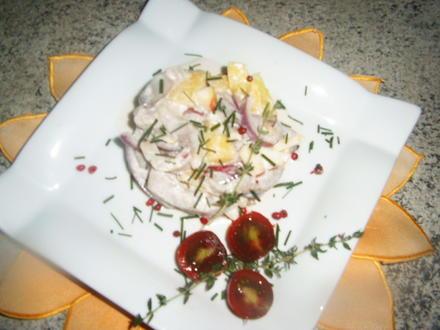 Matjessalat mit Radieschen Ananas und Apfel - Rezept - Bild Nr. 3698
