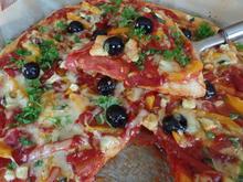Gemüsepizza mit Chorizo - Rezept - Bild Nr. 3698