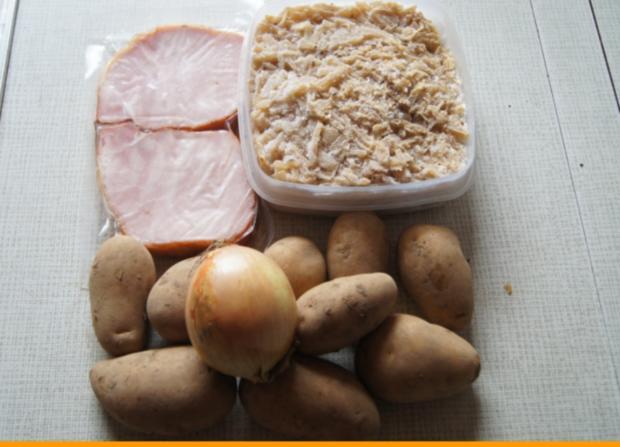 Kasseler auf tschechischen Sauerkraut mit Meerrettich-Kartoffelstampf - Rezept - Bild Nr. 3717