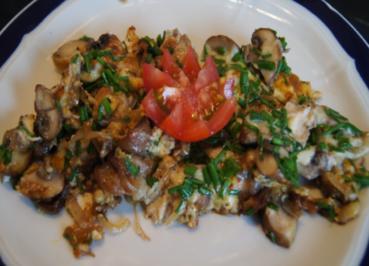 Rezept: Champignon-Mozzarella-Omelett