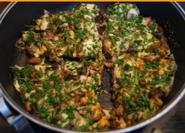 Champignon-Mozzarella-Omelett - Rezept - Bild Nr. 3719