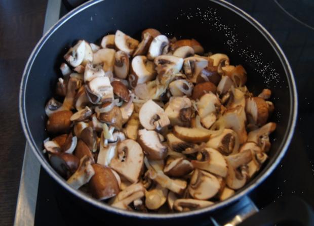 Champignon-Mozzarella-Omelett - Rezept - Bild Nr. 3722