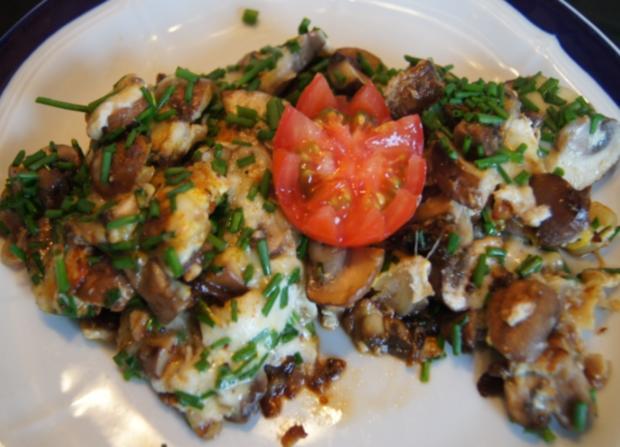 Champignon-Mozzarella-Omelett - Rezept - Bild Nr. 3726