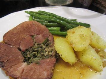 Rezept: Fleisch: Gefüllte Lammkeule
