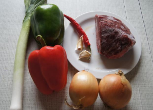 Rindfleischstreifen mit Gemüse im Wok und Basmati Reis - Rezept - Bild Nr. 3786