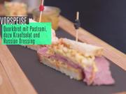 Pastrami-Sandwich mit Aprikosenchutney und Krautsalat - Rezept - Bild Nr. 2