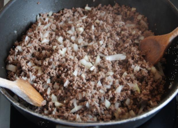 Rinderhackfleisch-Zucchini-Pfanne mit Drillingen - Rezept - Bild Nr. 3794