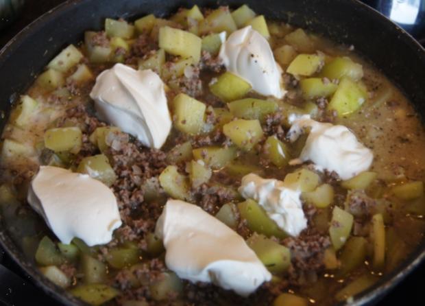 Rinderhackfleisch-Zucchini-Pfanne mit Drillingen - Rezept - Bild Nr. 3795