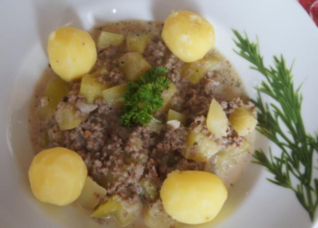 Rinderhackfleisch-Zucchini-Pfanne mit Drillingen - Rezept - Bild Nr. 3799